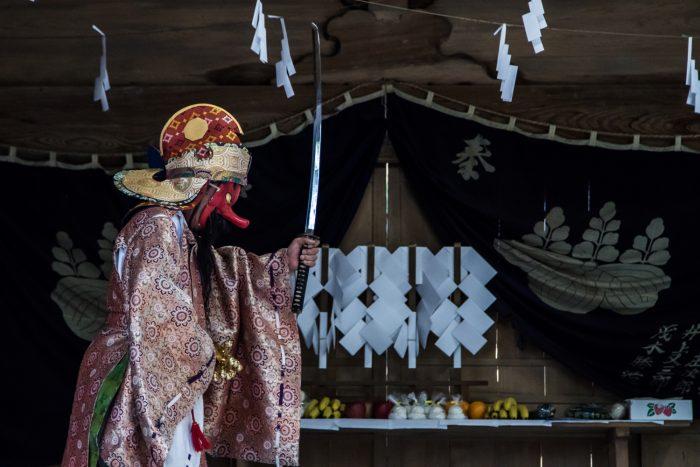 三夜沢の赤城神社太々神楽