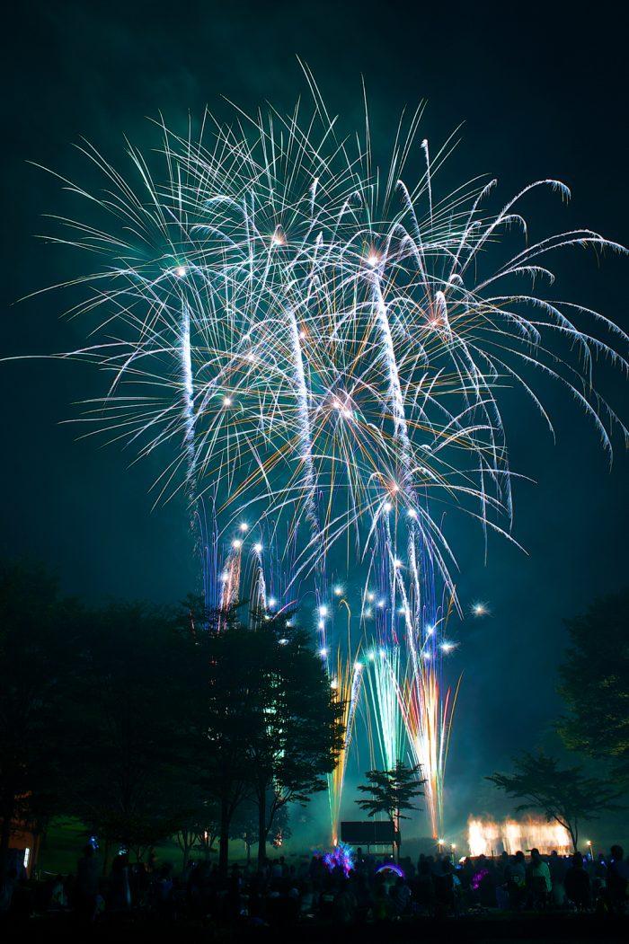 赤城クローネンベルク花火大会の様子