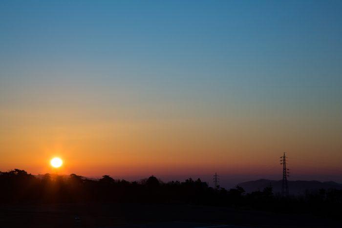 赤城南麓からの初日の出