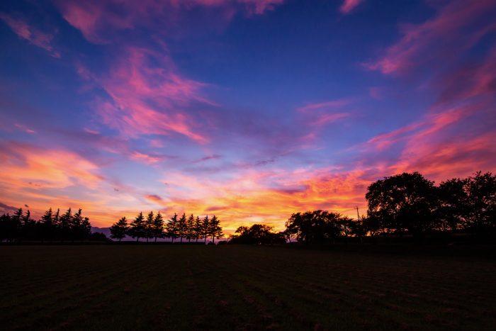 赤城南麓の夕焼け